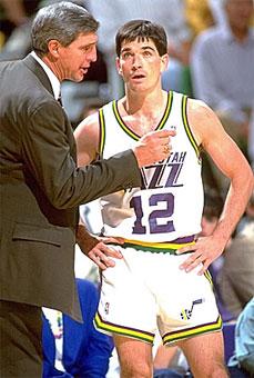 Jerry Sloan y John Stockton. Utah Jazz NBA