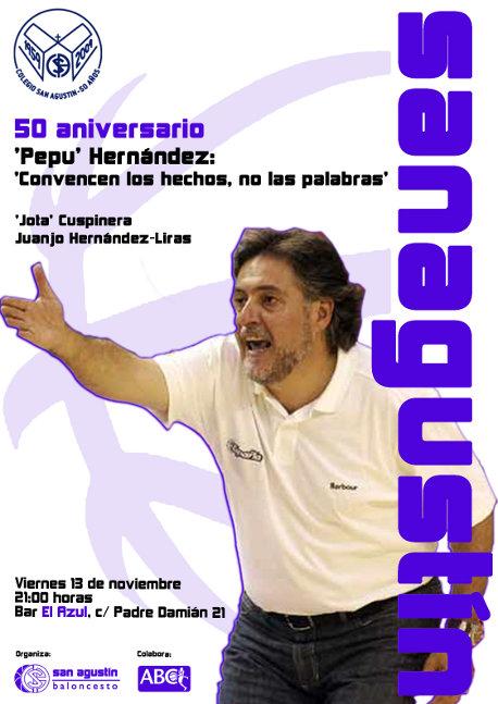 Charla Pepu Hernández. San Agustín Baloncesto Madrid